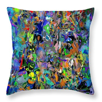 Throw Pillow featuring the digital art Anthyropolitic 1 by David Lane