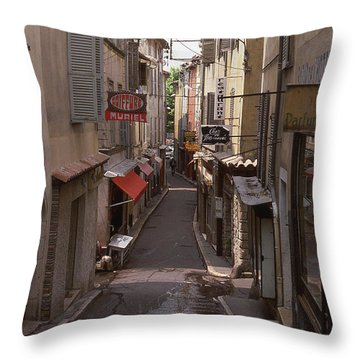 Antibes 76 Throw Pillow by Mark Alan Perry
