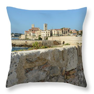 Antibes France Throw Pillow