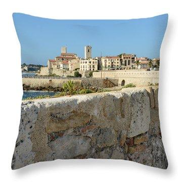 Antibes France Throw Pillow