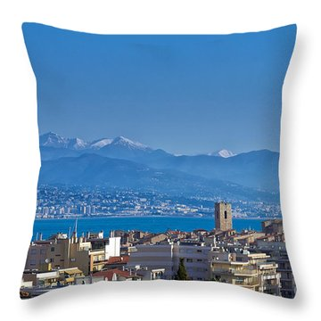 Throw Pillow featuring the photograph Antibes by Juergen Klust