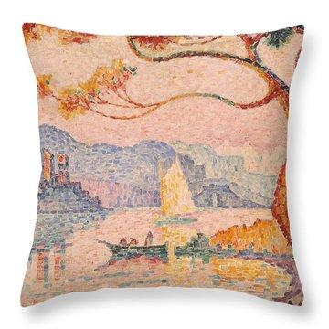 Antibes  Petit Port De Bacon Throw Pillow by Paul Signac