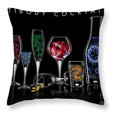 Antibody Cocktails Throw Pillow