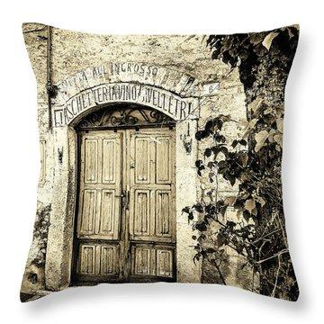 Antica Bottega B/w Throw Pillow