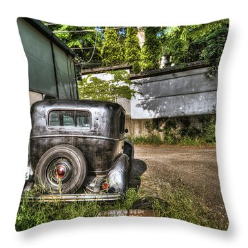 Throw Pillow featuring the photograph Antichrist Model T by John Swartz