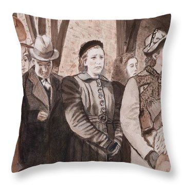 Anticipated Arrival Throw Pillow