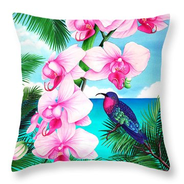 Anticipation Throw Pillow by Carolyn Steele