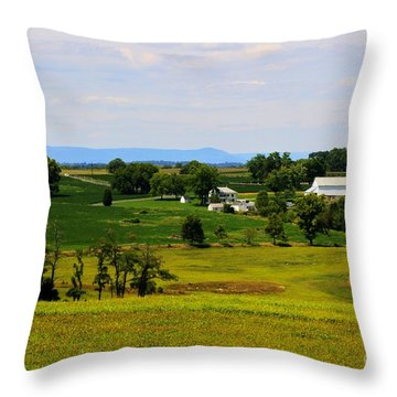 Antietam Battlefield And Mumma Farm Throw Pillow