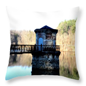 Antietam Creek Reading Pa Throw Pillow by Bill Cannon