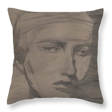 Throw Pillow featuring the drawing Antigone By Jrr by First Star Art