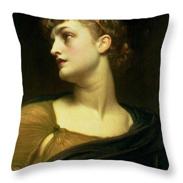 Antigone Throw Pillow by Frederic Leighton