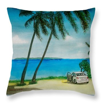 Antigua Throw Pillow by Frank Hunter