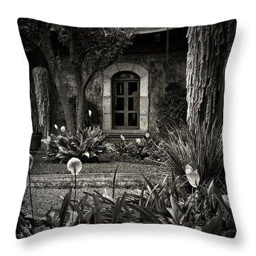 Antigua Garden Throw Pillow by Tom Bell