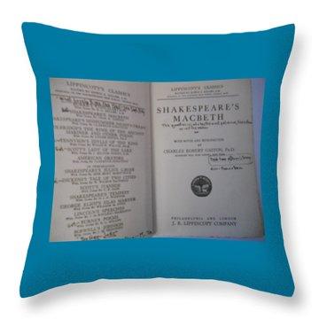 Antiqiue Shakespeare Macbeth Throw Pillow by Dotti Hannum