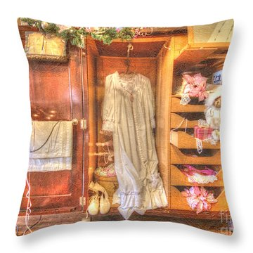 Antique Armoire Throw Pillow