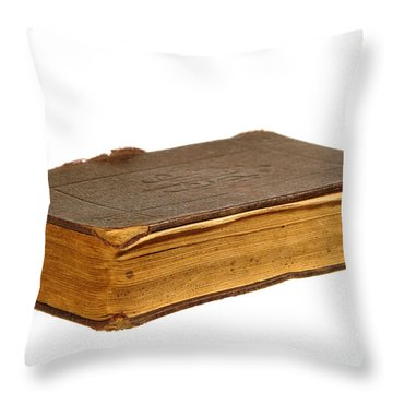 Antique Book Throw Pillow by Olivier Le Queinec