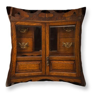 Antique Cabinet Throw Pillow