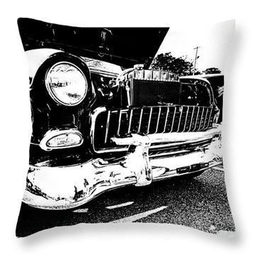 Antique Chevy Car At Car Show Throw Pillow