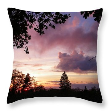 Antique Clouds Throw Pillow by Tom Mansfield