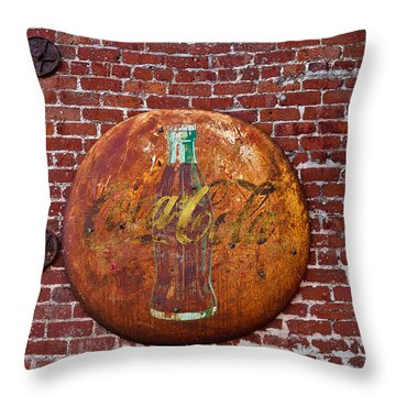 Antique Coke Sign 2 Throw Pillow