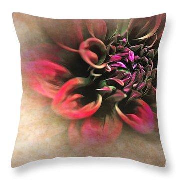 Antique Dahlia Throw Pillow by Kaye Menner