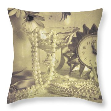 Antique Dressing Table Throw Pillow by Amanda Elwell