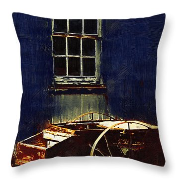 Antique Farm Cart Throw Pillow