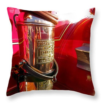 Antique Fire Extinguisher Throw Pillow