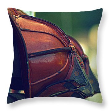 Antique Fireman Helmets Throw Pillow
