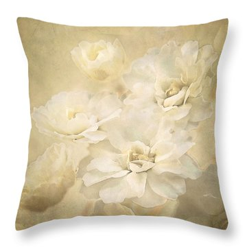 Antique Floral Throw Pillow