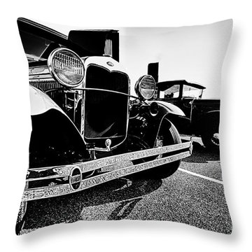 Antique Ford Car At Car Show Throw Pillow