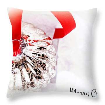 Antique Glass Bauble Throw Pillow