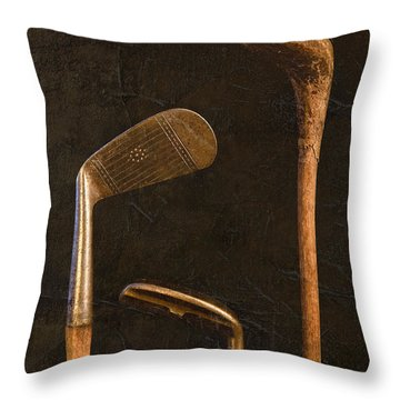 Antique Golf Clubs Throw Pillow
