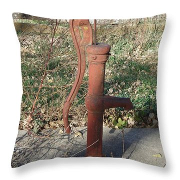 Antique Hydrant Throw Pillow