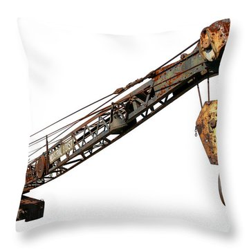 Antique Industrial Hoist Throw Pillow by Olivier Le Queinec