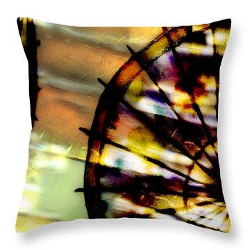 Color Wheel Throw Pillow by Don Gradner