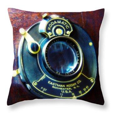 Antique Kadamatic Lens Throw Pillow