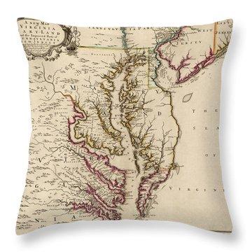 Old Maps Throw Pillows