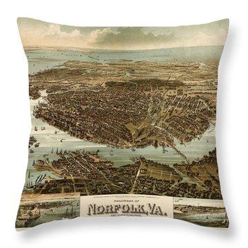 Norfolk Virginia Throw Pillows