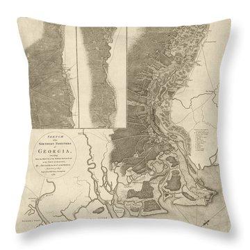 Savannah Georgia Throw Pillows