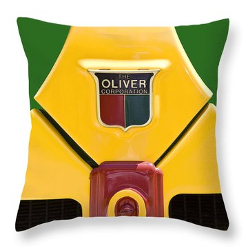 Antique Oliver Tractor Throw Pillow