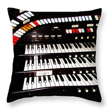 Throw Pillow featuring the photograph Antique Organ by Marcia Socolik