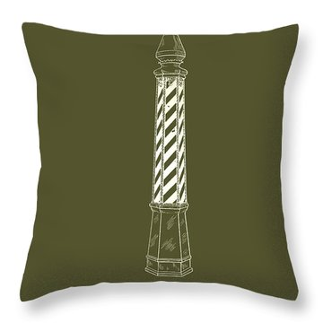 Antique Patent For Barber's Pole 1924 Throw Pillow