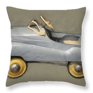 Antique Pedal Car Ll Throw Pillow by Michelle Calkins