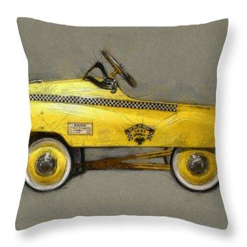 Antique Pedal Car Lll Throw Pillow by Michelle Calkins