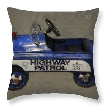 Antique Pedal Car V Throw Pillow by Michelle Calkins