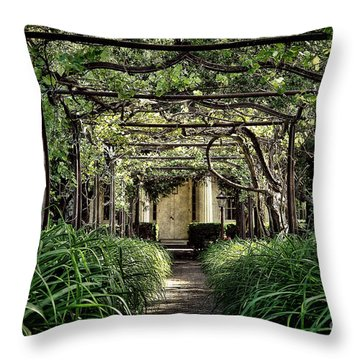 Antique Pergola Arbor Throw Pillow
