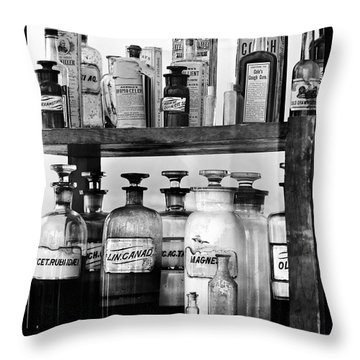 Antique Pharmacy Throw Pillow