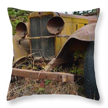 Antique Pickup Truck Throw Pillow
