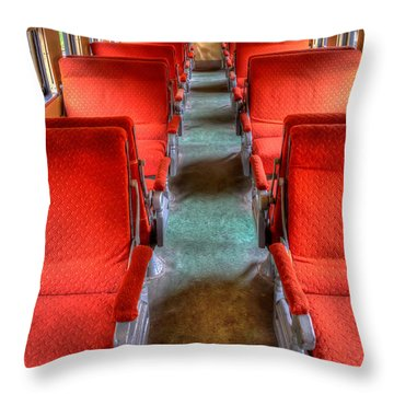 Antique Railroad Coach Car Throw Pillow